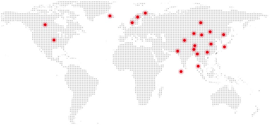 2000+品牌服务中心<br>远销30+国家地区