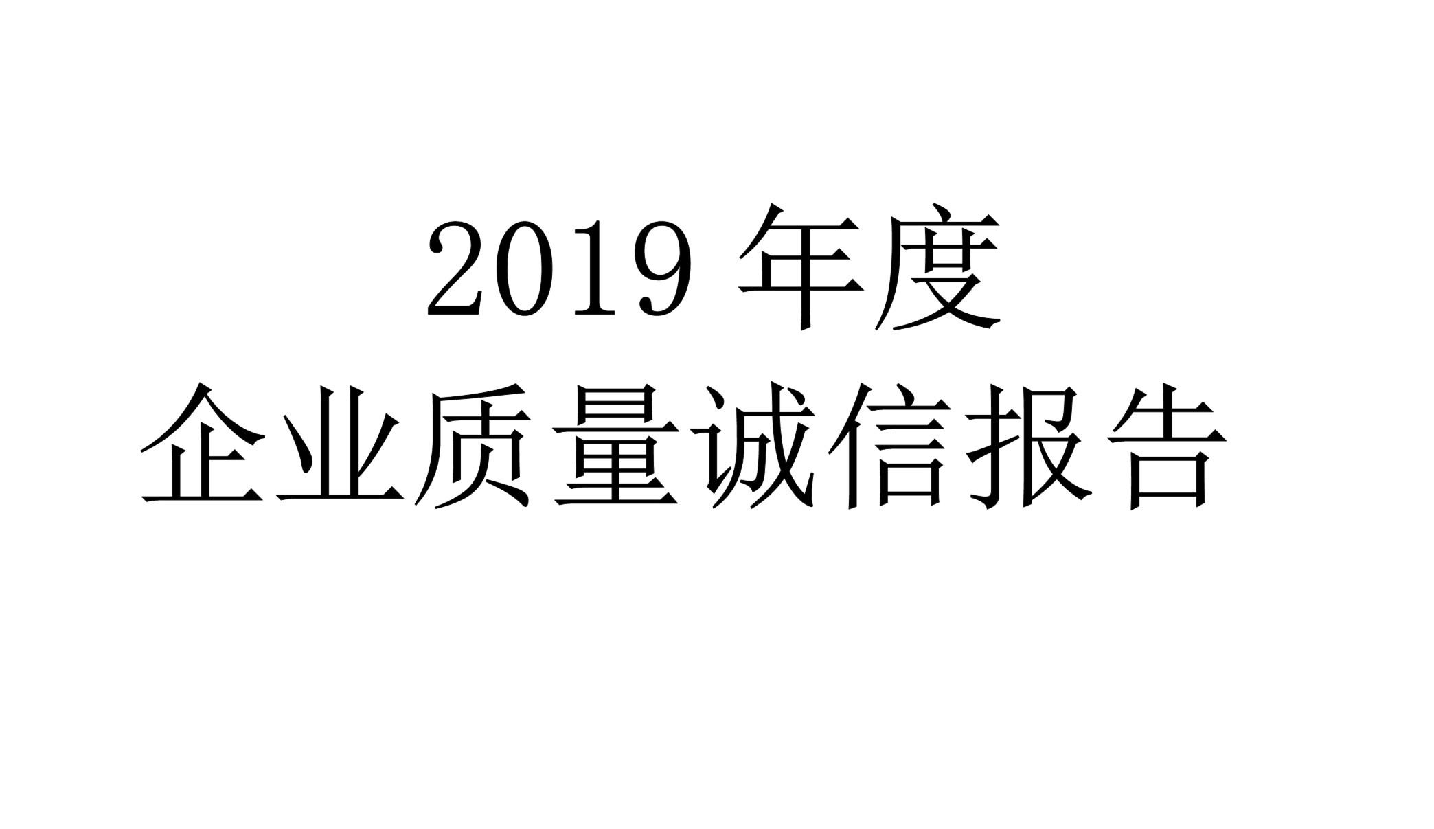 2019年度世友企业质量诚信报告